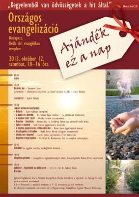 Országos evangelizáció plakát